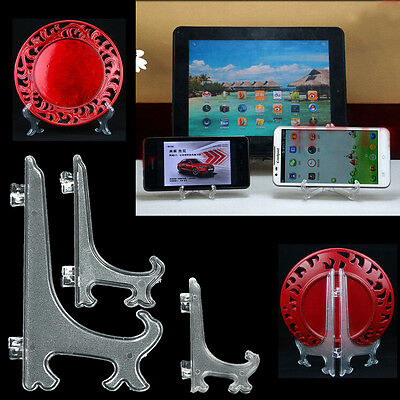 """2pcs 3"""" 4"""" 6"""" Display Easel Stand Plate Bowl Picture Frame Photo Pedestal Holder"""