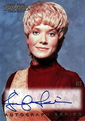 Star Trek Voyager Profiles Jennifer Lien as Kes A10 Auto Card