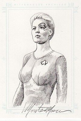 Women of Star Trek Voyager Monte Moore 7 of 9 Sketch Card