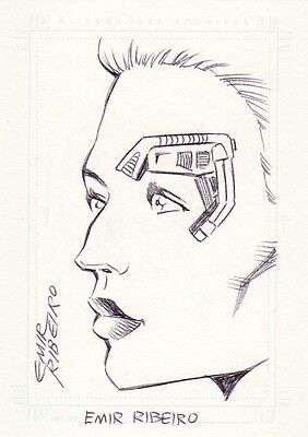 Women of Star Trek Voyager Emir Ribeiro / 7 of 9 Sketch Card