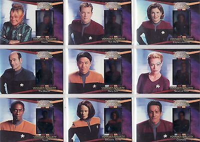 Complete Star Trek Voyager Rare 9 Card Gallery Chase Set G1 - G9