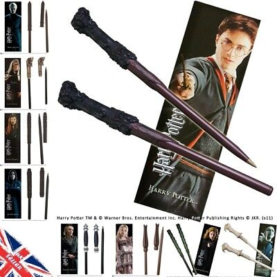 Harry Potter Wand Pen & Bookmark Gift Set Noble Collection Hermione Ginny Luna