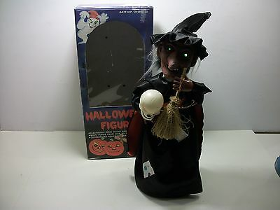 VTG 1988 Funny Toys Corp Animated Witch Figure Halloween Motionette Lights Sound