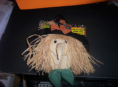 Decorations modern 1960 1990 halloween holiday for Animated scarecrow decoration