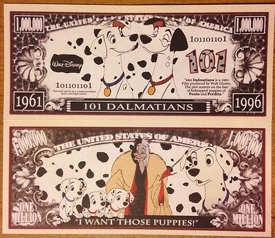Disney 101 Dalmatians Million Dollar Bill