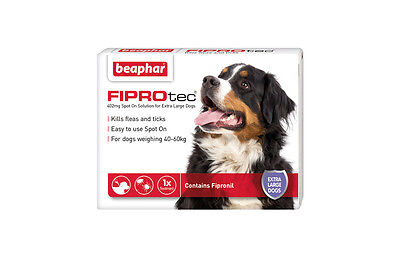 Beaphar FIPROtec Spot On for Extra Large Dogs, 3 X Treatment against Fleas Ticks