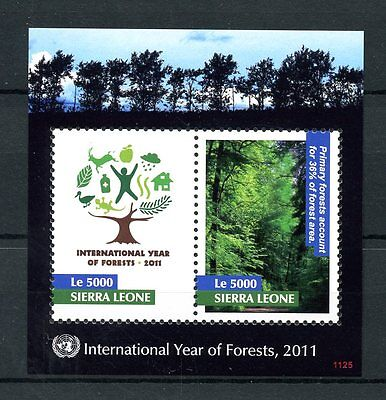 Sierra Leone 2011 MNH Int Year of Forests 2v S/S Trees Nature Stamps