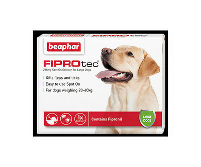 Beaphar FIPROtec Spot On for Large Dogs, 6 X Treatment against Fleas Ticks
