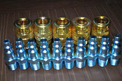 """Air Quick Coupler 1/4"""" Female Body M-Style Milton 715 & Plugs 727 USA fits CP20"""