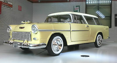 G LGB 1:24 Scale Model 1955 Chevrolet Chevy Bel Air Nomad Hard Top Yellow 73248