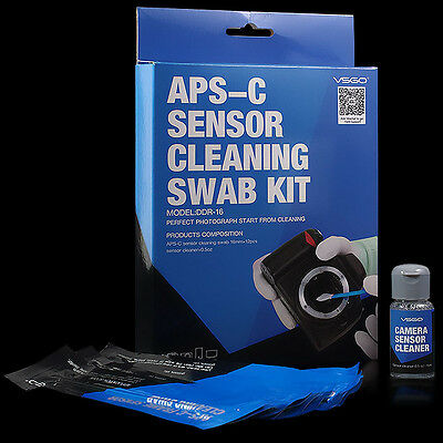 VSGO Sensor Cleaning Swab Kit DDR-16 APS-C Camera CCD/CMOS APSC Canon Nikon Sony