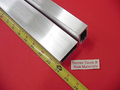 "2 Pieces 1""x 2""x 1/8"" Wall ALUMINUM RECTANGLE TUBE 6063 T52 x 24"" Long"