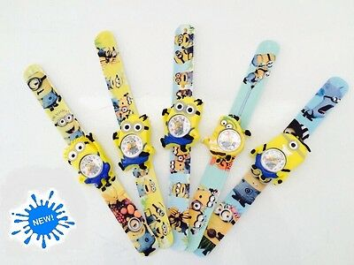 Despicable Me 2 Minions Snap On Slap On Watch Kids Cartoon Children Women