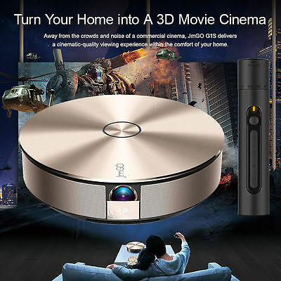 JmGO G1S Android Full HD 1080P Home Theater Projector 3D Wifi Bluetooth TV HDMI