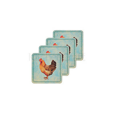 Kitchen Craft Provence Cork Back Laminated Set of 4 Coasters