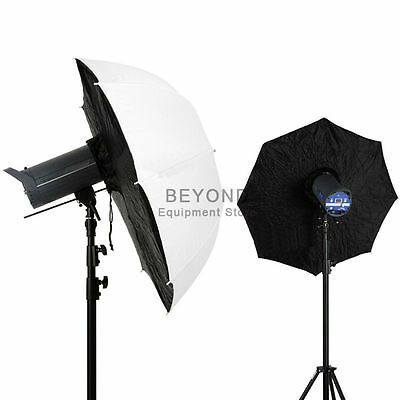 "2x 40"" Photography Umbrella Softbox Photo Studio Flash Lighting Soft Brolly Box"