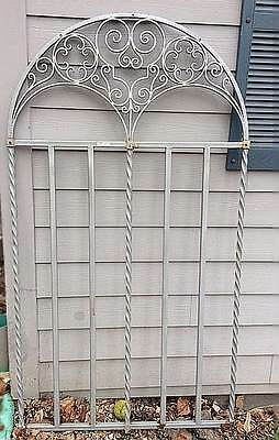 WROUGHT IRON arched panel for garden, patio, wine cellar  78 in tall x 42 in w