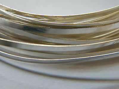 Sterling Silver Rectangular Wire 4.0mm x 0.84mm x 100mm Fully Annealed Sheet.925