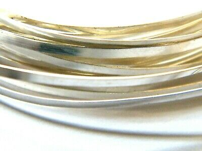 Sterling Silver Rectangular Wire 6.0mm x 1.20mm x 100mm Fully Annealed Sheet.925