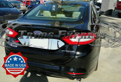 2013-2018 Ford Fusion License Plate Trim Backdrop Chrome Stainless Steel