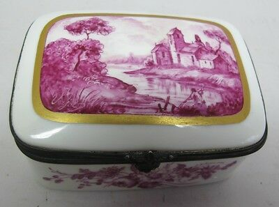 Fine French Sevres 19th C. French Porcelain Hand-Painted Box c. 1870 Sgd. Verjot