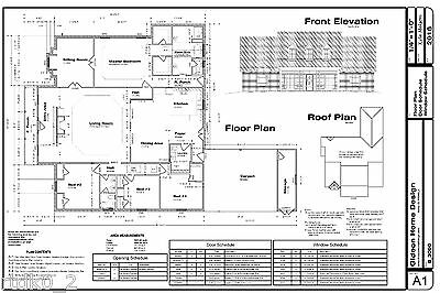 CAD DWG, and PDF files for Custom Home House Plan 3,090 SF Blueprint Plans