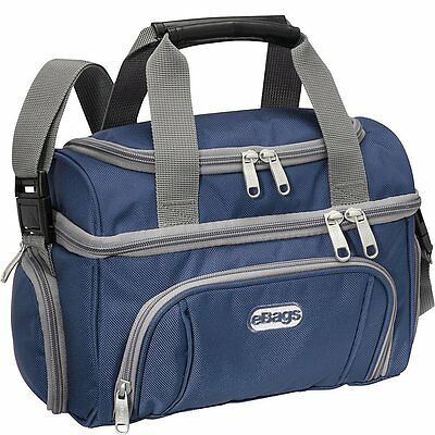 eBags Crew Cooler Jr Handsome Luggage Lunch Bag Top Dry Compartment Blue Yonder