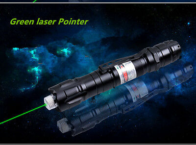 5 Mile Pattern Green LaserPointer 1mW 532nm 18650 Rechargeable Clamp