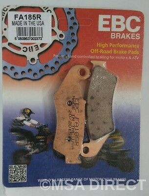"Kawasaki KLX250 (1993 to 2007) EBC ""R"" Sintered FRONT Brake Pads (FA185R) 1 Set"