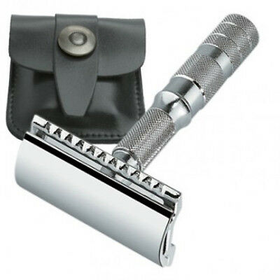 MERKUR Closed Comb 4-Piece Travel Safety Razor with Case