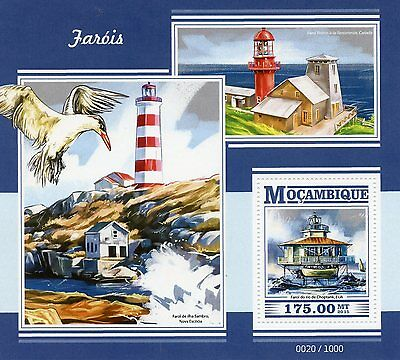 Mozambique 2015 MNH Lighthouses 1v S/S Choptank River Light