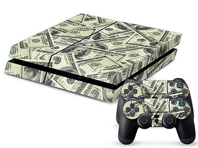 Hot US Dollar Sticker Skin Decal For PS4 Console 2 Controller Durable Xmas Gift