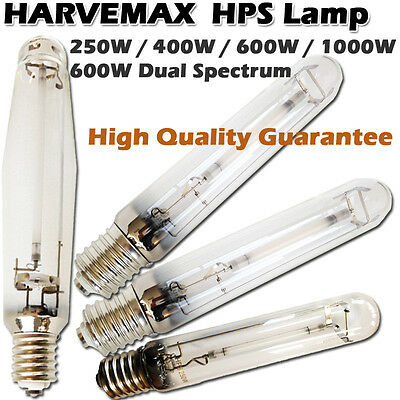 Hydroponics 250 400 600 1000 watt Dual HPS Grow Light HID Bulb Best Ballast Lamp