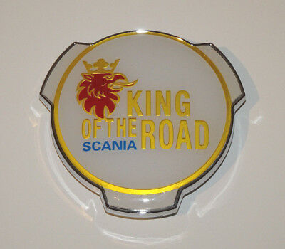 Scania King of the Road Truck Grill Badge Emblem V8 Topline Streamline 1401610