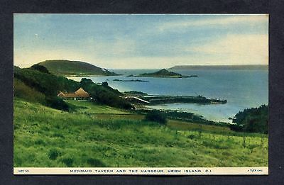 C1960's View of the Mermaid Tavern & Harbour, Herm Island.