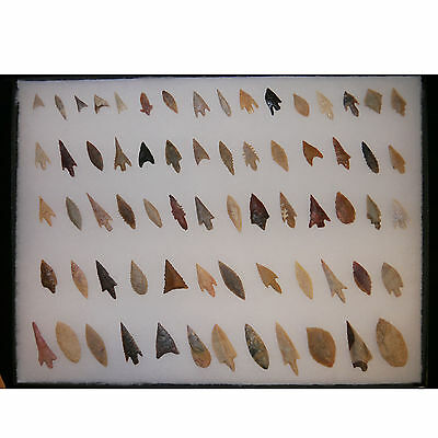 Lot of 67 Flint Arrowheads from Sahara - Neolithic age - (0061)