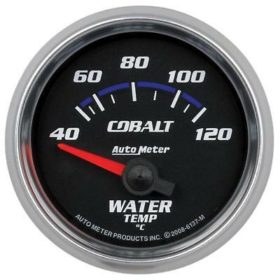 "Auto Meter 6137M Cobalt 2-1/16"" Electric Water Temp Gauge, 40-120ºC"
