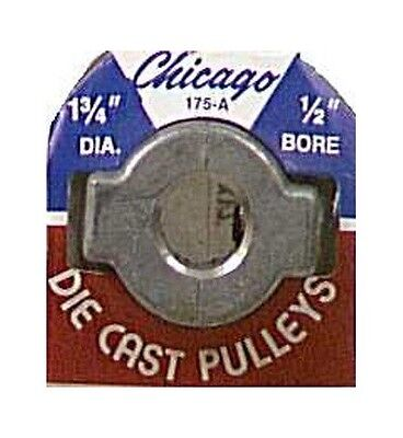 "Chicago Die Cast Single V Grooved Pulley A Belt w 1-3/4"" Dia X 1/2"" Bore Bulk"