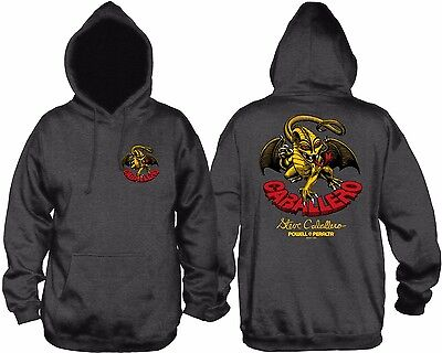 Powell Peralta Steve Caballero DRAGON PULLOVER Skateboard Hoodie CHARCOAL LARGE