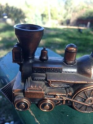 Old Bank Metal Train Railroad Engine Copper Finish Banthrico Chicago USA 1974