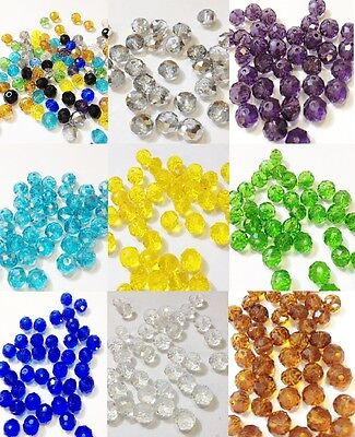 Faceted Rondelle Handmade Glass Beads, Imitate Austrian Crystal, Abacus 8mm
