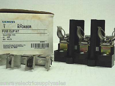 Siemens KFCK66R Rejection Type Fuse Clip Kit 600V 60A  NEW in BOX