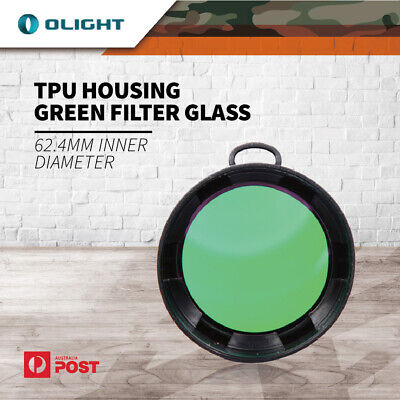 Olight TPU HOUSING GREEN FILTER GLASS FOR TORCH 62.4MM INNER DIAMETER FSR51-R V2