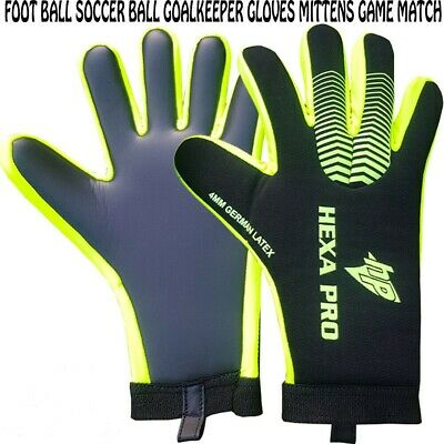 Hexabrothers Soccer Football Match Goalkeeper Korean Latex Protective Gloves