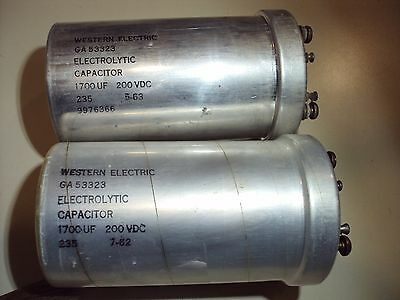 Western Electric Electrolytic Capacitors