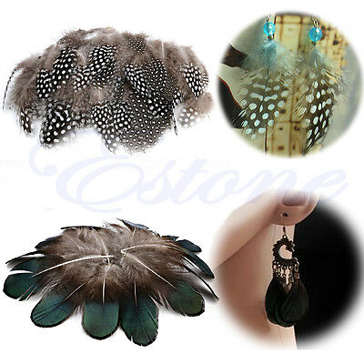 50Pcs Beautiful Natural Pheasant Feathers for Craft Sewing Millinery Costume DIY