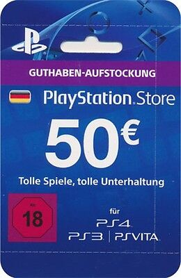 Sony PSN PlayStation Network LiveCard 50 Euro (PS4)  9894933