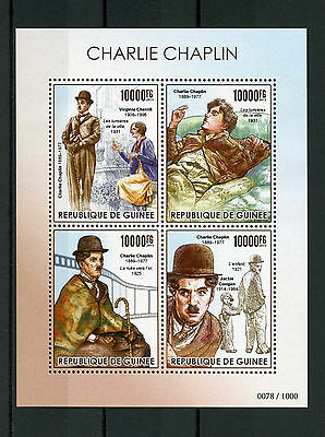 Guinea 2015 MNH Charlie Chaplin 4v M/S Jackie Coogan The Kid Virginia Cherrill