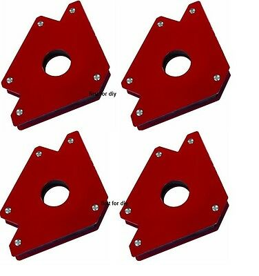 Heavy Duty x4 75lb Large Welding Magnet Right Angle Square Holder Soldering New