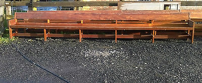 Large Solid Wood Chapel Bench Pews Dining Vintage Reclaimed Church Seats #M10